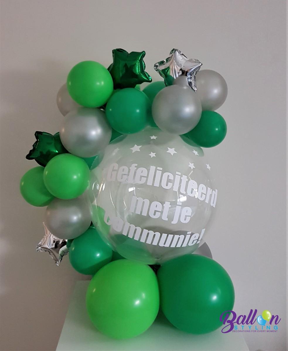 Balloon Styling Tilburg gefeliciteerd met je communie gepersonaliseerd cadeau ballonnen Tilburg (1) (1)