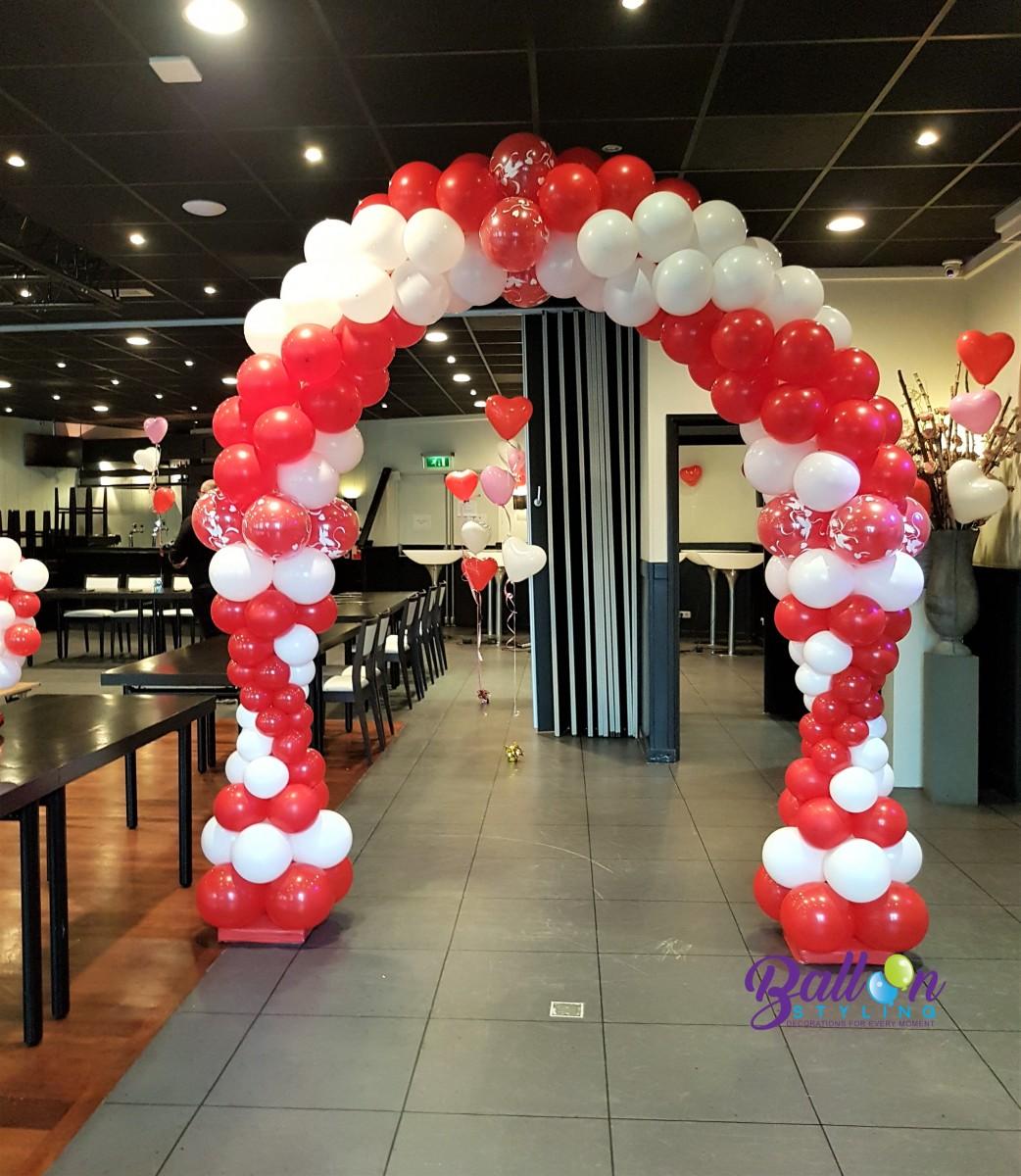 Balloon Styling Tilburg ballonnenboog love doves huwelijk trouwerij ballonnen Tilburg (1)