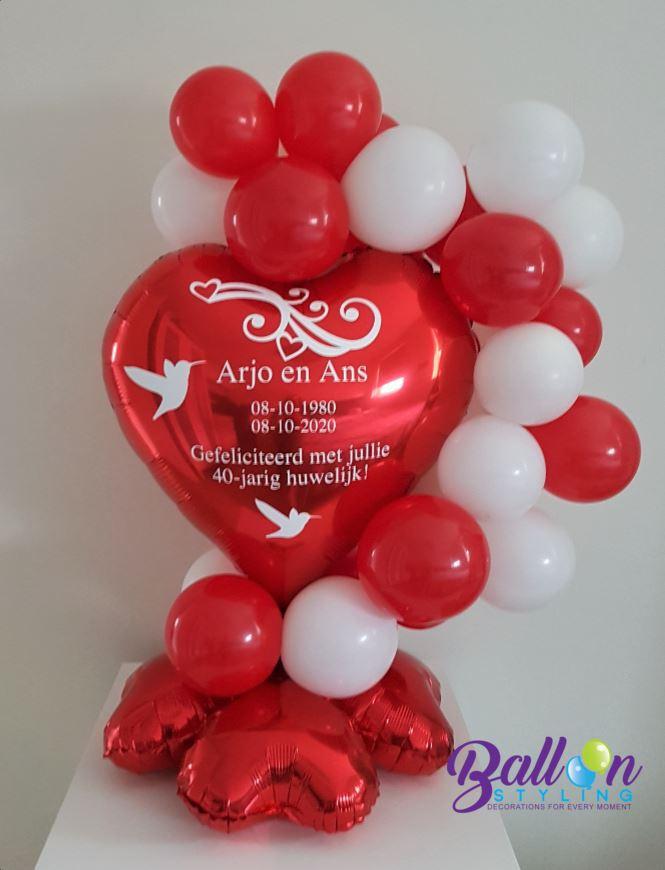 Balloon Styling Tilburg gepersonaliseerde ballon bedrukking huwelijk trouwerij love doves hart ballonnen Tilburg (1)