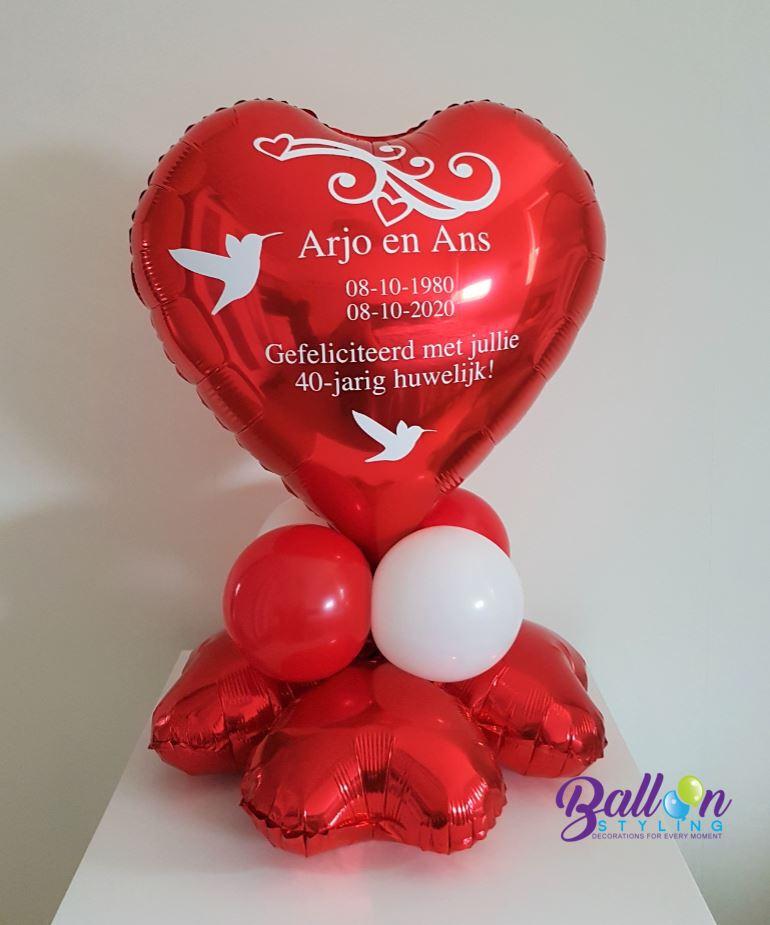 Balloon Styling Tilburg gepersonaliseerde ballon bedrukking huwelijk trouwerij love doves hart ballonnen Tilburg 2 (1)