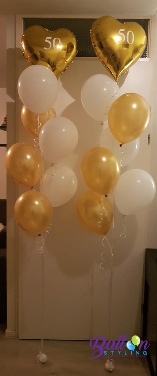 Balloon Styling Tilburg gronddecoratie heliumballonnen gepersonaliseerd 50 jarig huwelijk ballonnen Tilburg (1) (1)