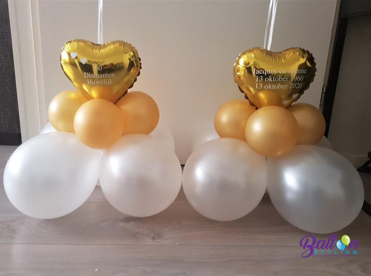 Balloon Styling Tilburg gronddecoraties vloerdecoraties 60 jaar getrouwd diamanten huwelijk ballonnen Tilburg3 (1)