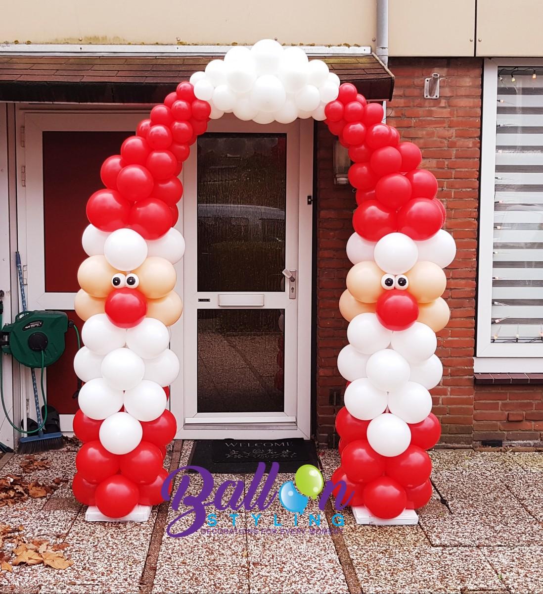 Balloon Styling Tilburg ballonnenboog ballonboog kerstman ballonnen Tilburg