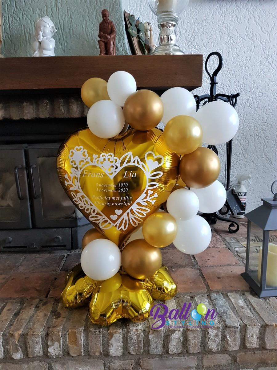 Balloon Styling Tilburg bedrukte gepersonaliseerde ballon 50 jaar getrouwd gouden huwelijk ballonnen Tilburg (1)