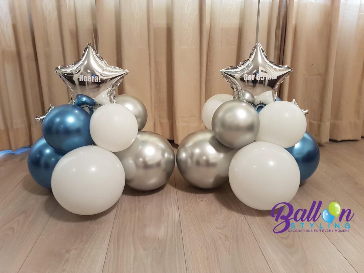 Balloon Styling Tilburg gepersonaliseerde ballon bedrukte ballon 65 jaar ballonnen Tilburg