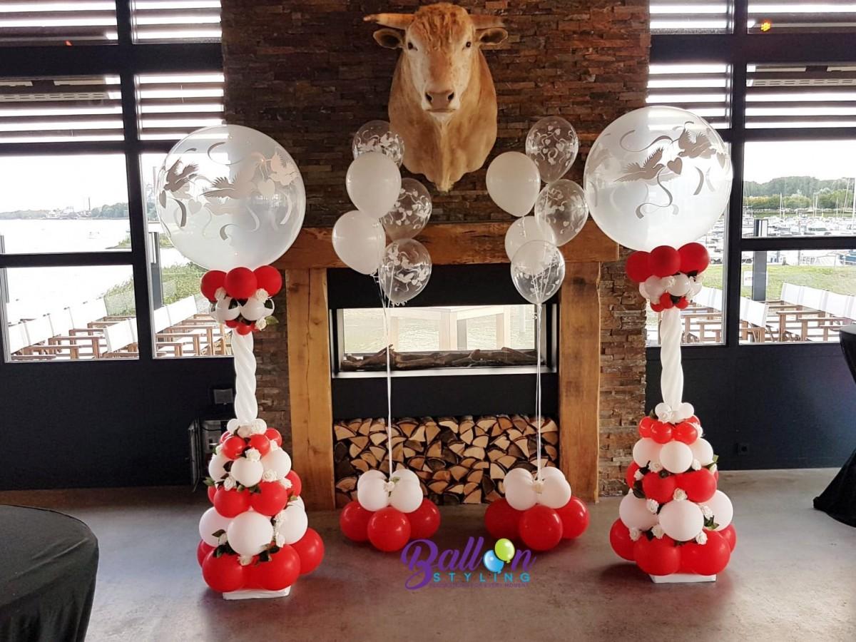 Balloon-Styling-Tilburg-ballonnendecoratie-ballonnenpilaar-ballonpilaar-bruiloft-trouwerij-love-doves-zijden-rozen-ballonnen-Tilburg