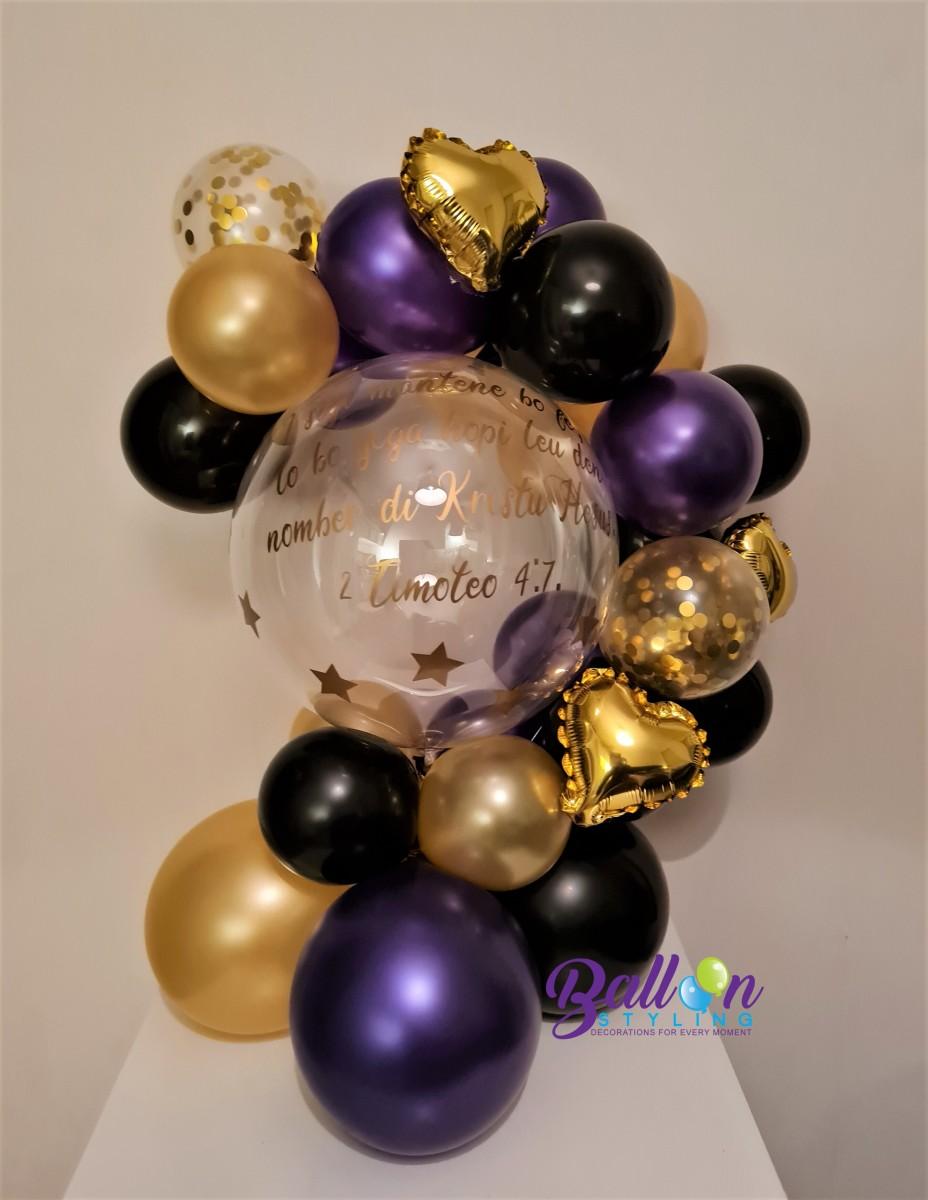 Balloon Styling Tilburg bedrukte gepersonaliseerde ballon folieballon hart confettiballon ballonnen Tilburg (1)