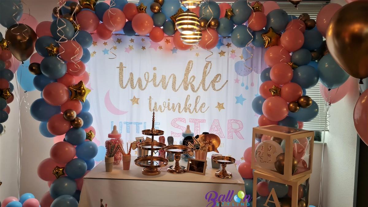 Balloon Styling Tilburg gender reveal organic ballonnenslinger babydozen kleed twinkle twinkle little stars taartset ballonnen Tilburg (2)