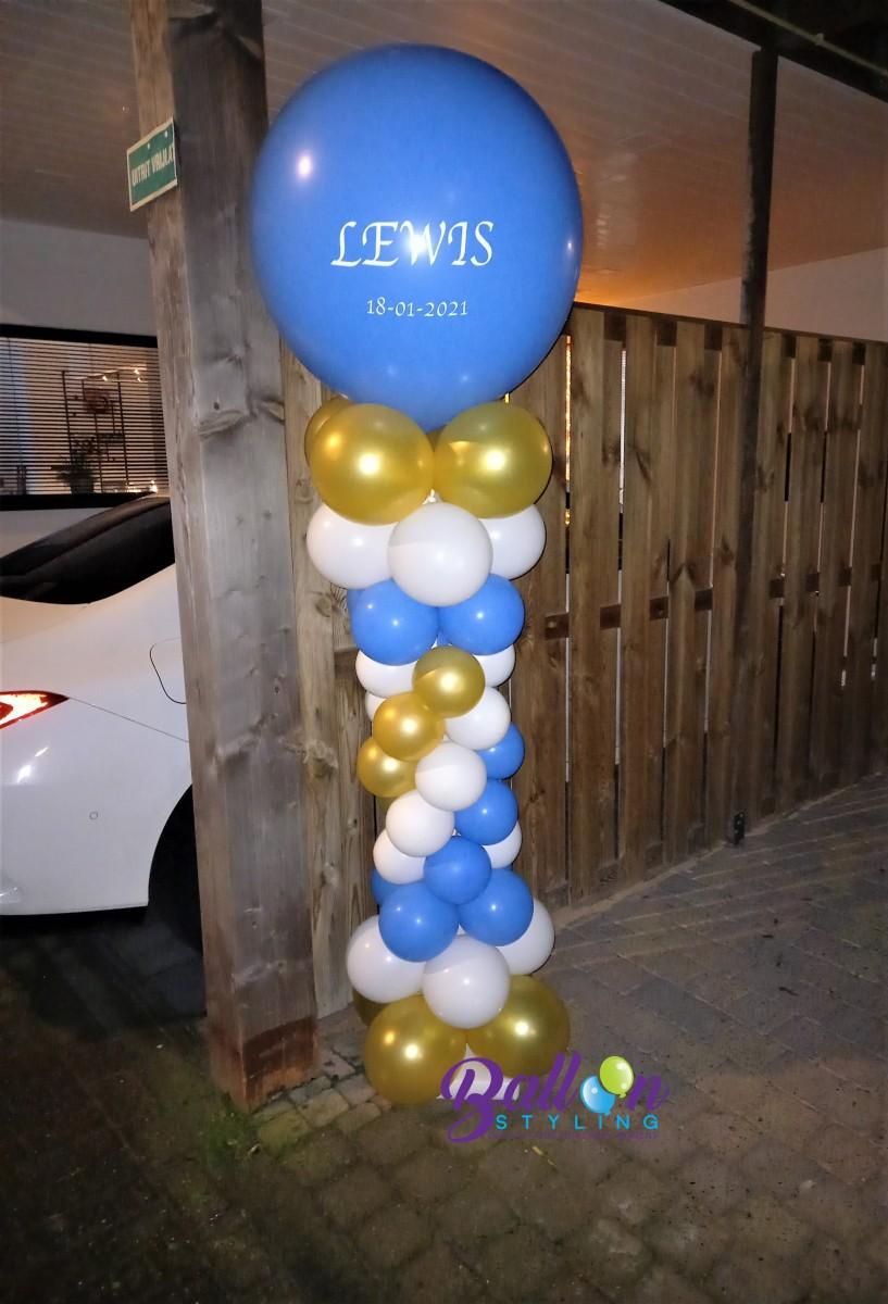 Balloon Styling Tilburg geboorte baby geboren het is een jongen gepersonaliseerde bedrukte ballon ballonnen Tilburg (1)
