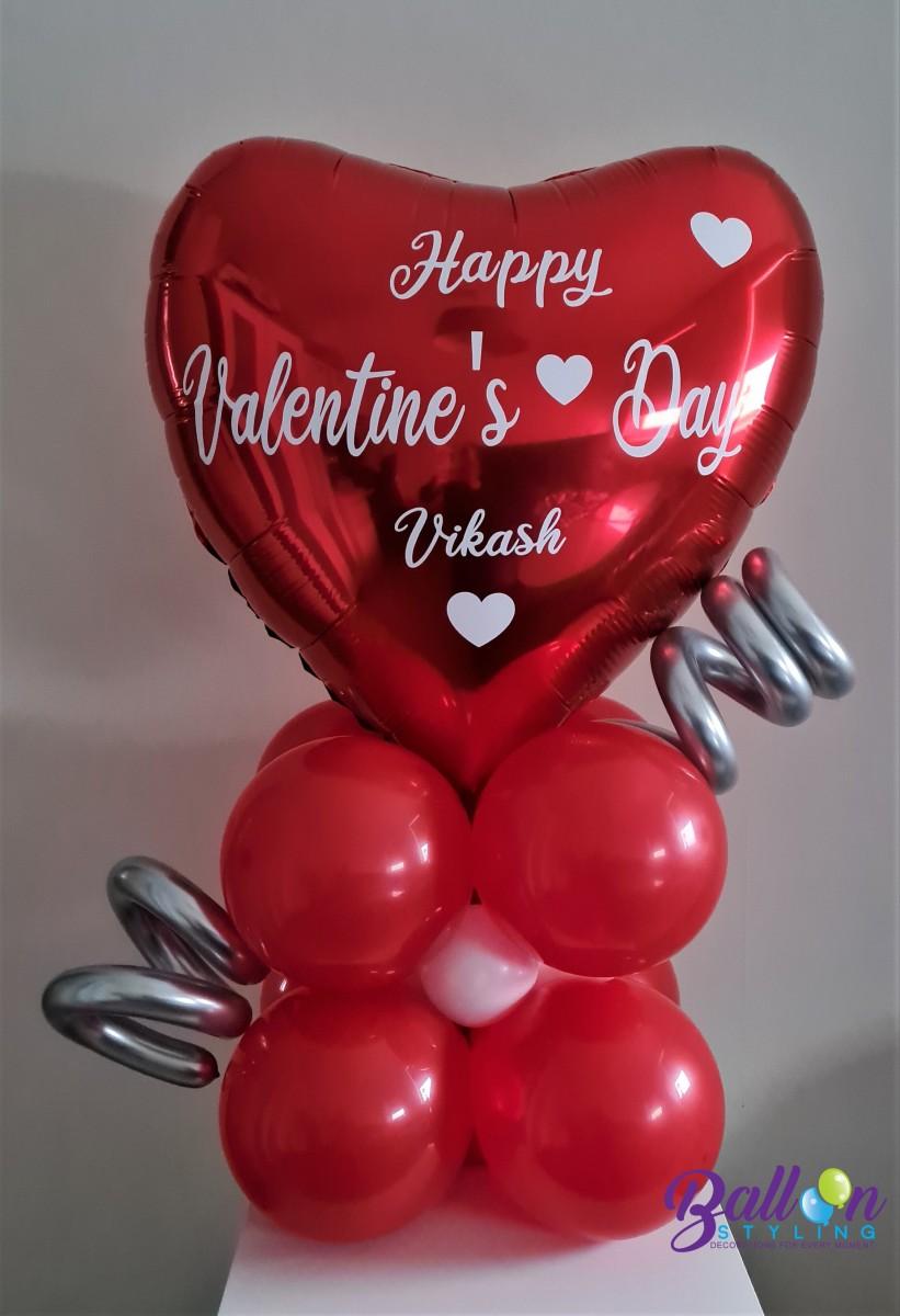 Balloon Styling Tilburg gepersonaliseerde bedrukte ballon Valentijn groot rood hart ballonnen Tilburg (1)