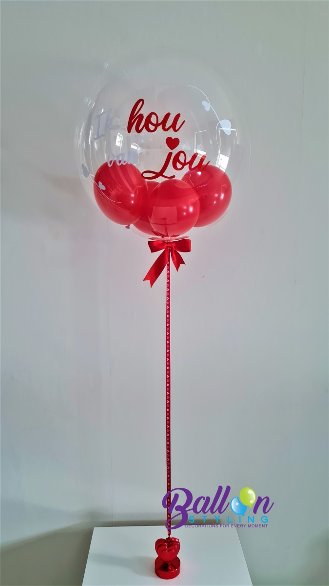 Balloon Styling Tilburg gepersonaliseerde bedrukte ballon Valentijn met hartje ballonnen Tilburg (1)