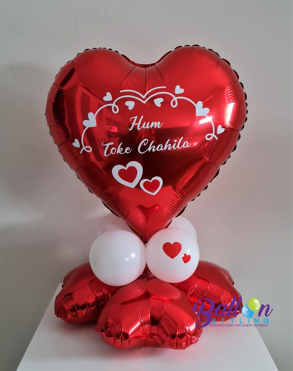 Balloon Styling Tilburg gepersonaliseerde bedrukte ballon Valentijn rood hart ballonnen Tilburg (1)