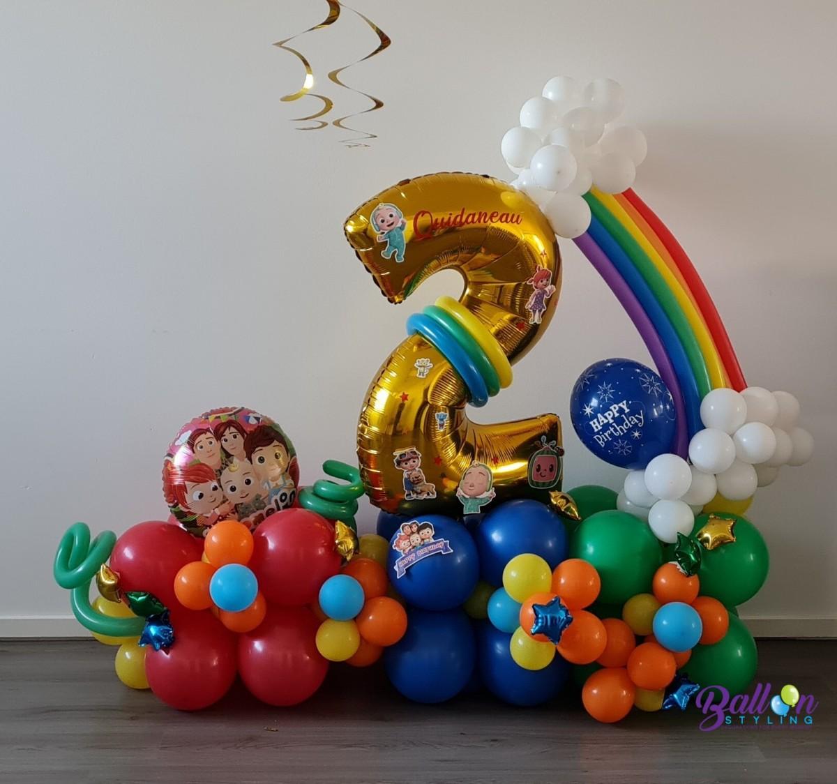 Balloon Styling Tilburg CoComelon ballonnendecoratie regenboog ballonnen Tilburg2 (2)